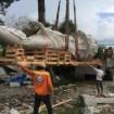 Hạ tượng phật đóng kiện gỗ, đóng tượng vào container, lashing chuyển đi Mỹ.