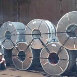 Đóng thép cuộn theo tiêu chuẩn của hãng tàu ( lashing steel coil )